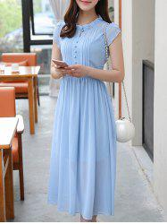 Ruffle Collar Chiffon Swing Dress -