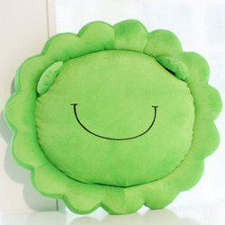 Cartoon Home Decoration Sunflower Embellished Frog Shape Design Pillow