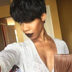 Fashion Side Bang Short Fluffy Women's Human Hair Wig