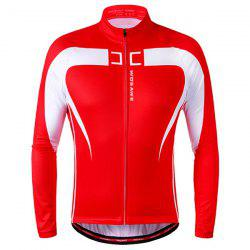 High Quality Long Sleeve Thermal Fleece Cycling Jacket For Unisex -