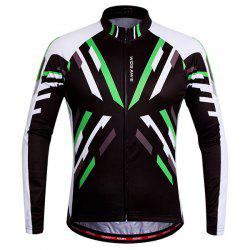 Useful Breathable Quick Dry Cycling Long Sleeve Jersey For Unisex - COLORMIX S
