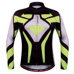 Fashion Polka Dot Pattern Breathable Quick Dry Cycling Long Sleeve Jersey For Unisex - COLORMIX