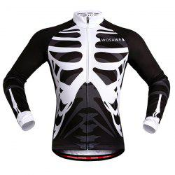 Stylish Skeleton Pattern Breathable Quick Dry Cycling Long Sleeve Jersey For Unisex -