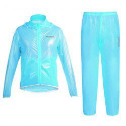 Simple Solid Color Windproof and Waterproof Cycling Jersey Raincoat Suits For Unisex -