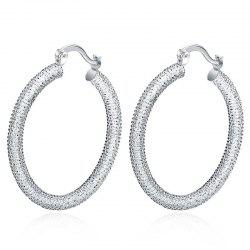 Pair of Gorgeous Embellished Circle Hoop Earrings For Women