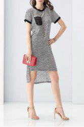 Color Block High-Low Dress -