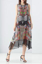 Double Side Layered Printed Dress -