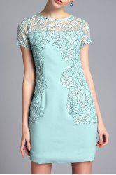 Lace Panel Sheath Short Dress -