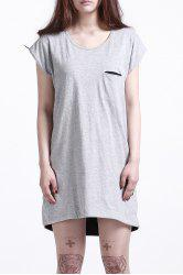 Round Neck Double-Faced T-Shirt Dress -