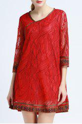 Ethnic Style Lace Dress -