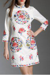 Embroidered Short Qipao Dress -