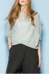 Knitted Batwing Sleeve Blouse -