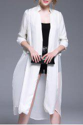 Solid Color Splicing Outerwear Blouse -