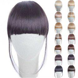 Fashion 14 Colors Clip In Synthetic Front Full Bang With Sideburns For Women - DEEP BROWN