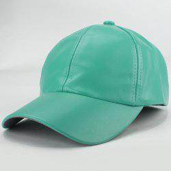 Trendy Candy Color Hip Hop Smooth PU Baseball Hat -