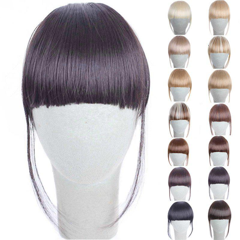 Fashion 14 Colors Clip In Synthetic Front Full Bang With Sideburns For WomenHAIR<br><br>Color: DEEP BROWN; Style: Bangs; Type: Clip-In/On; Hairstyling: Straight; Fabric: Synthetic Hair; Length: Short; Weight: 0.045kg; Package Contents: 1 x Bang; Length Size(CM): 14CM?Sideburn 25CM?;