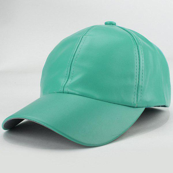 Sale Trendy Candy Color Hip Hop Smooth PU Baseball Hat