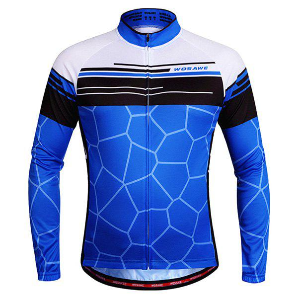 Discount Simple Irregular Pattern Quick Dry Cycling Long Sleeve Jersey For Unisex