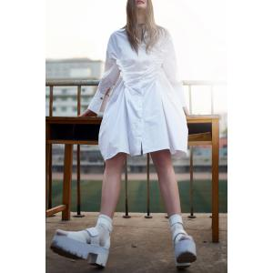 Unique Tailored Boyfriend Shirt Dress -