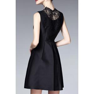 Lace Splicing Little Black Dress -