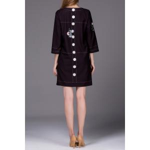 Mouse Embroidered Shift Dress -