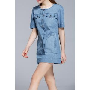 Bodycon Mini Denim Dress -