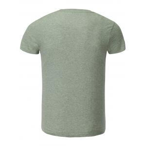 Cotton Blends Cartoon Figure and Letters Print Round Neck Short Sleeve T-Shirt -