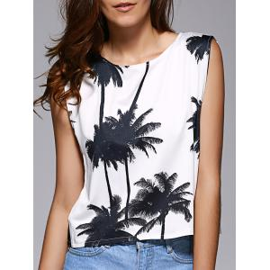 Loose Fitting Cut Out Palm Tree Top