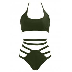 Halter High Waisted Bralette Bikini Set