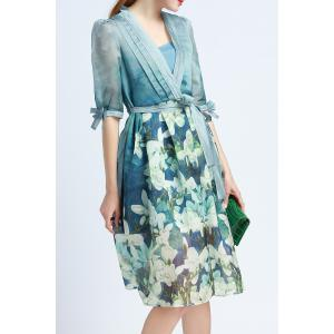 Cami Dress and Floral Print Belted Dress Twinset -