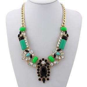 Gorgeous Faux Jade Gemstone Necklace For Women -