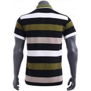 Slim Fit Short Sleeves Stripe Polo T-Shirt For Men -