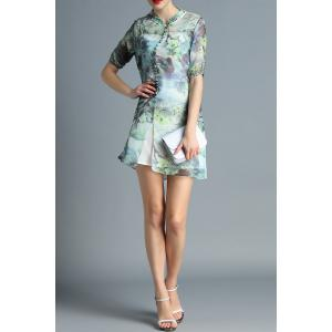 Cami Dress and Scenery Print Dress Twinset -