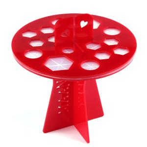 Stylish Brushtree Brush Holder Brush Drying Rack - Red