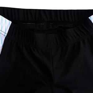High Quality Stripe Pattern Quick Dry Gel Padded Outdoor Cycling Shorts For Unisex -