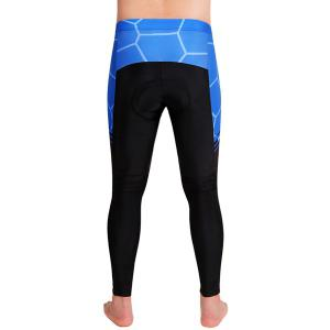 Fashion Geometric Pattern Breathable Gel Padded Tight Cycling Pants For Unisex -