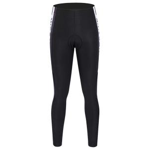 Simple Black and White Breathable Gel Padded Tight Cycling Pants For Unisex -