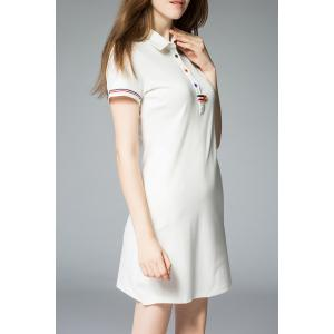 Polo Collar Single Breasted T-Shirt Dress -