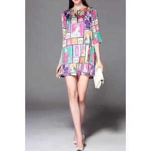 Printed Oversize Dress -