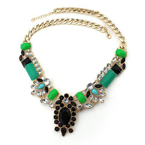 Gorgeous Faux Jade Gemstone Necklace For Women - AS THE PICTURE