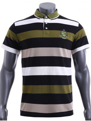 Best Slim Fit Short Sleeves Stripe Polo T-Shirt For Men