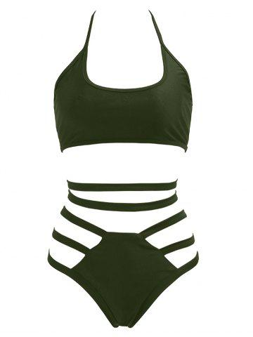 Chic Halter High Waisted Bralette Bikini Set