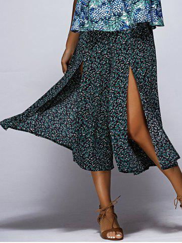 Chic Chic Floral Print High Slit Women's Culotte