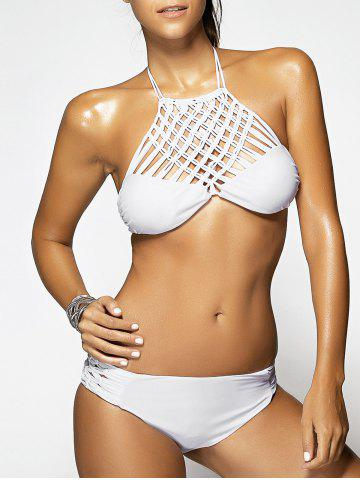 Chic Chic White Weave Hollow Out Women's Bikini