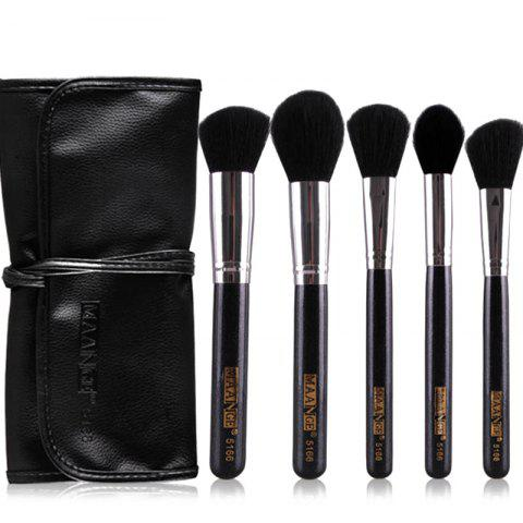 Buy Stylish 5 Pcs Multifunction Nylon Face Makeup Brushes Set with Brush Package