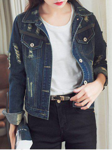 Outfits Classic Ripped Pocket Design Denim Jacket