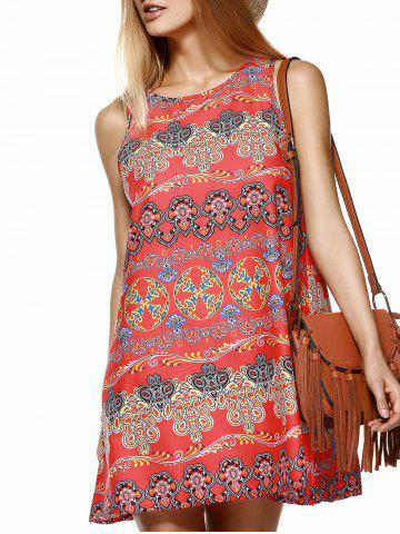Latest Ethnic Style Tribal Pattern Mini Dress