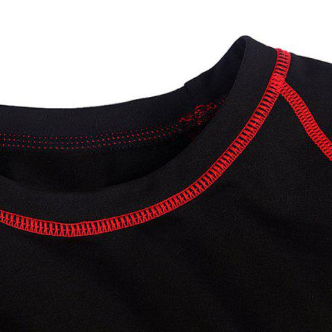 Discount Professional Warmth Thermal Fleece Base Layer Cycling Long Sleeve Jersey For Unisex - L RED WITH BLACK Mobile