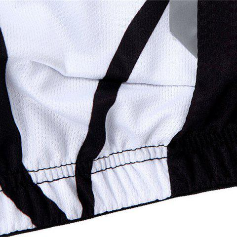 Unique Fashion Muscle Pattern Breathable Quick Dry Cycling Long Sleeve Jersey For Unisex - L WHITE AND BLACK Mobile