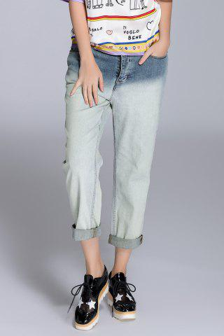 Unique Ombre Color Loose Jeans